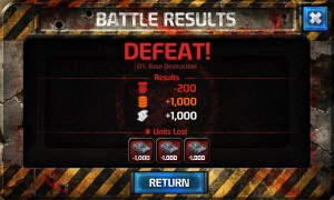 Battle results screen from Enemy Lines