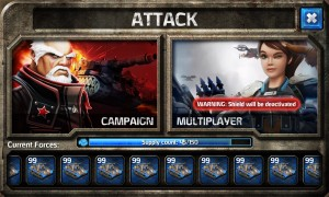 Enemy Lines attack screen